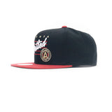 Atlanta United Cursive Script Snapback Hat - Black