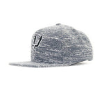 San Antonio Spurs Grey Noise Snapback Hat - Gray