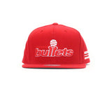 Washington Bullets Wool Snapback Hat - Red