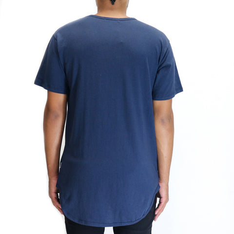 EPTM Loop Terry OG Long Tee Shirt - Navy