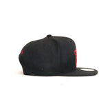 Miami Heat Melton Proper Snapback Hat - Black