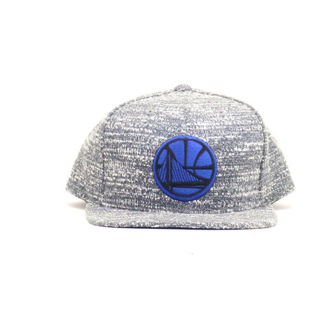 Golden State Warriors Grey Noise Snapback Hat - Grey