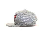 Chicago Bulls Grey Noise Snapback Hat - Grey