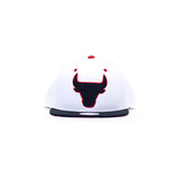 Chicago Bulls Sole Under Visor Snapback Hat - White