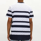 Staple Pigeon Positive Striped T-Shirt - Navy