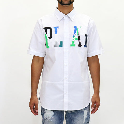 Play Cloths Runaway S/S Woven Shirt - White