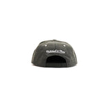 Brooklyn Nets Suede Cation Perforated Snapback Hat - Grey