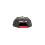 Chicago Bulls Suede Cation Perforated Snapback Hat - Grey