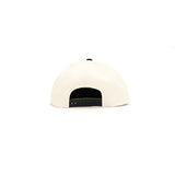 Black Scale Monogram SnapBack - Cream