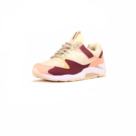 Saucony Grid 9000 - Cream/Red/Pink