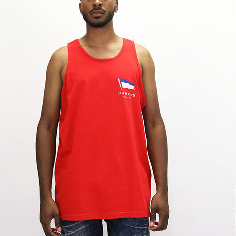 Diamond Supply Yacht Flag Tank Top - Red