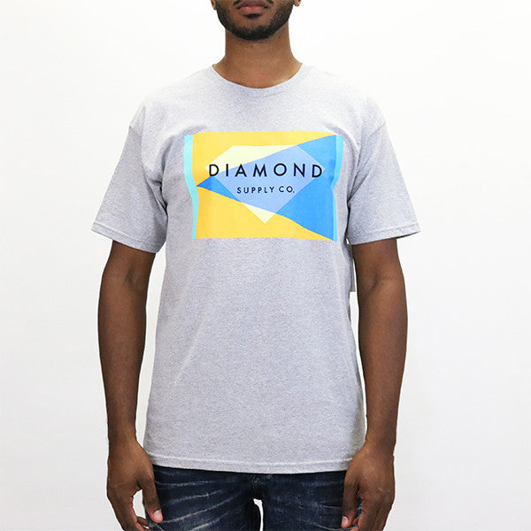 Diamond Supply Geometric T-Shirt - Athletic Heather