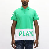 Play Cloths Spellout Polo Shirt - Kelly Green