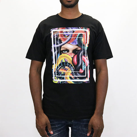 Black Scale Lady of the Whisper T-Shirt - Black