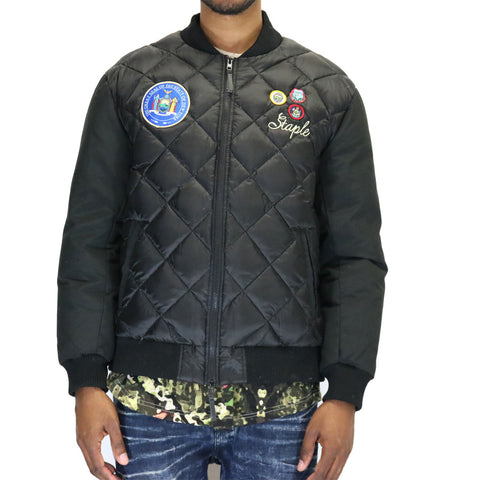 Staple Pigeon Patch Bomber Jacket - Black