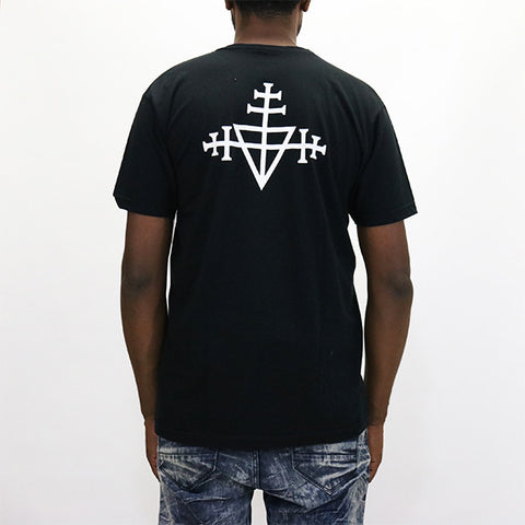 Black Scale Triple Templar V-neck - Black