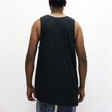 Black Scale Asymmetrical Tank Top - Black