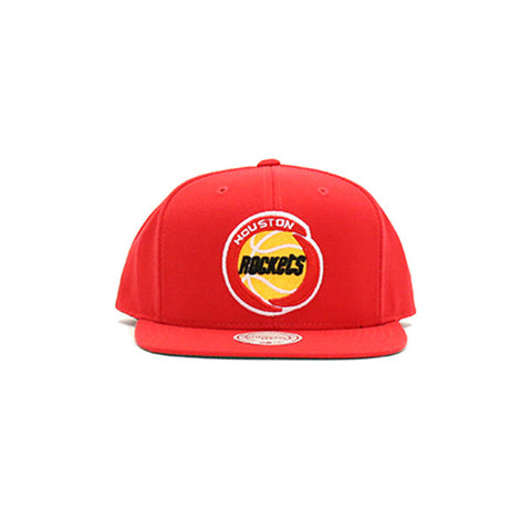 Houston Rockets Wool Solid Snapback Hat - Red