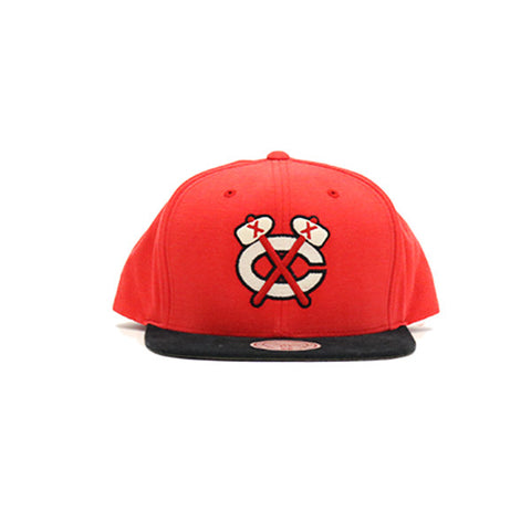 Chicago Black Hawks Sandy Off White Snapback Hat - Red