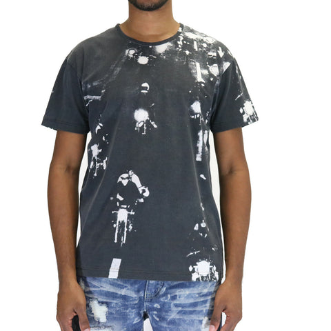 10 Deep Night Ride Photo T-Shirt - Black