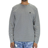 10 Deep Null Striped L/S T-Shirt - White