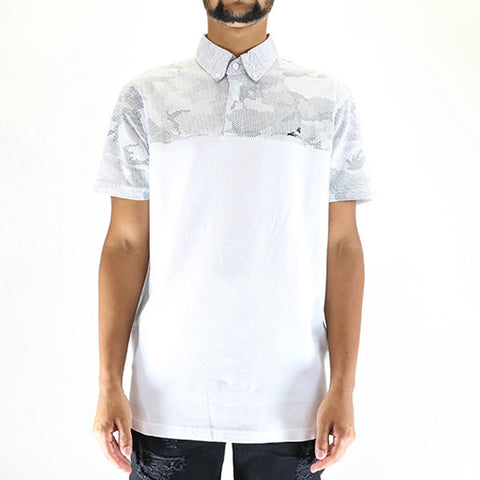 Staple Pigeon Dot Camo Polo - White