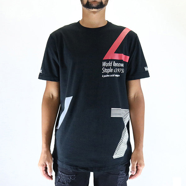 Staple Pigeon Contagion Scoop Tee T-Shirt - Black