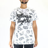 Billionaire Boys Club Galaxy AO SS Knit - White