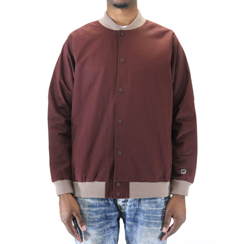 Undefeated Sideline Twill Bomber Jacket - Burgundy