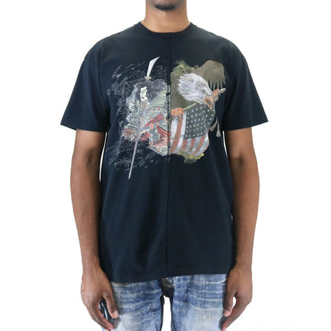 10 Deep Washinosenshi Split T-Shirt - Black