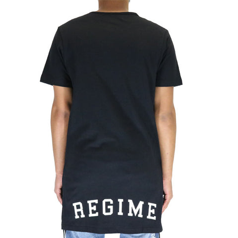 Civil Regime Extended Zip Long Tee Shirt - Black