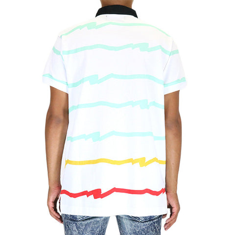 Play Cloths Outline SS Polo - White