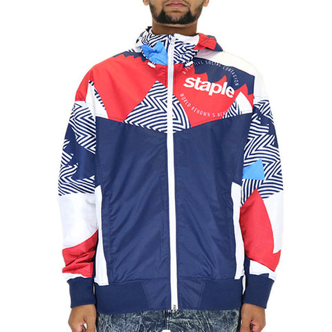 Staple Pigeon Abstract Jacket - Navy