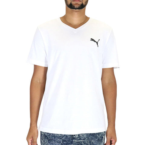 Puma Iconic V-Neck Tee T-Shirt - White