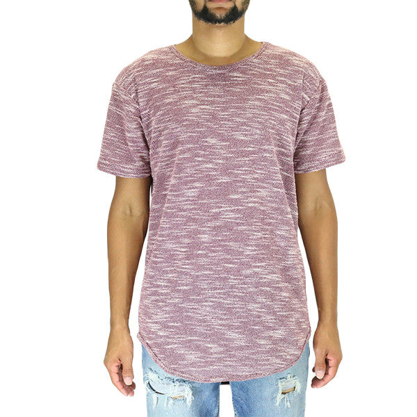 EPTM Loop Terry OG Long Tee Shirt - Burgundy