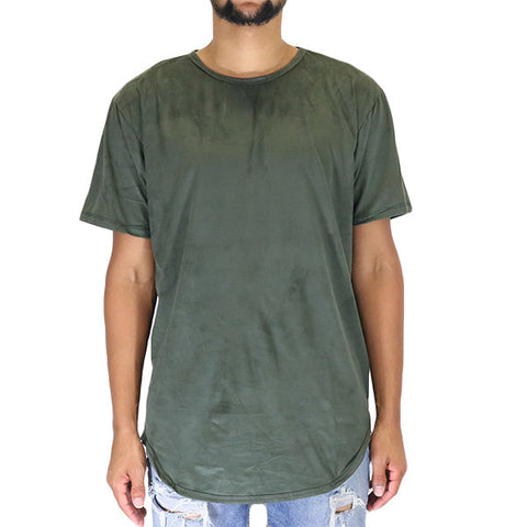 EPTM Suede OG Long Tee Shirt - Forest Olive