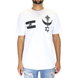 Black Scale Conquering Lion T-Shirt - White