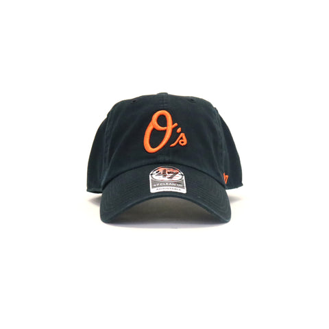 Baltimore Orioles Rebound Clean Up StrapBack Dad Hat - Black