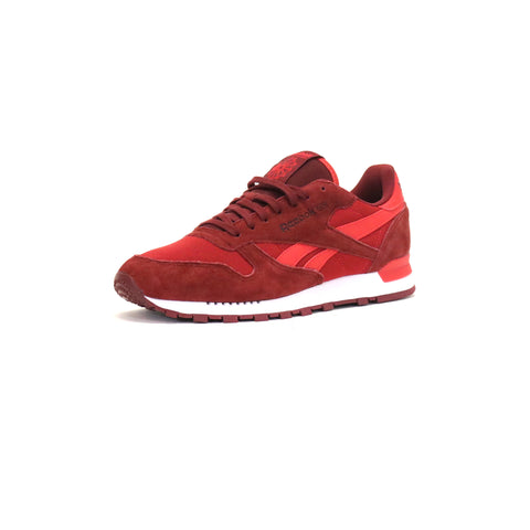Reebok Classic Leather Clip Ele - Flash Red/Merlott