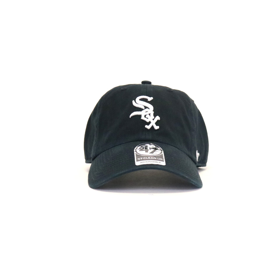 1b9ab37a2ac Chicago Whitesox Home Clean Up StrapBack Dad Hat - Black ...