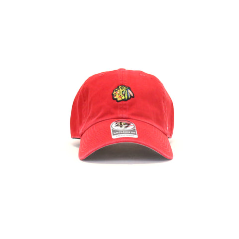 Chicago Blackhawks Abate Clean Up StrapBack Dad Hat - Red