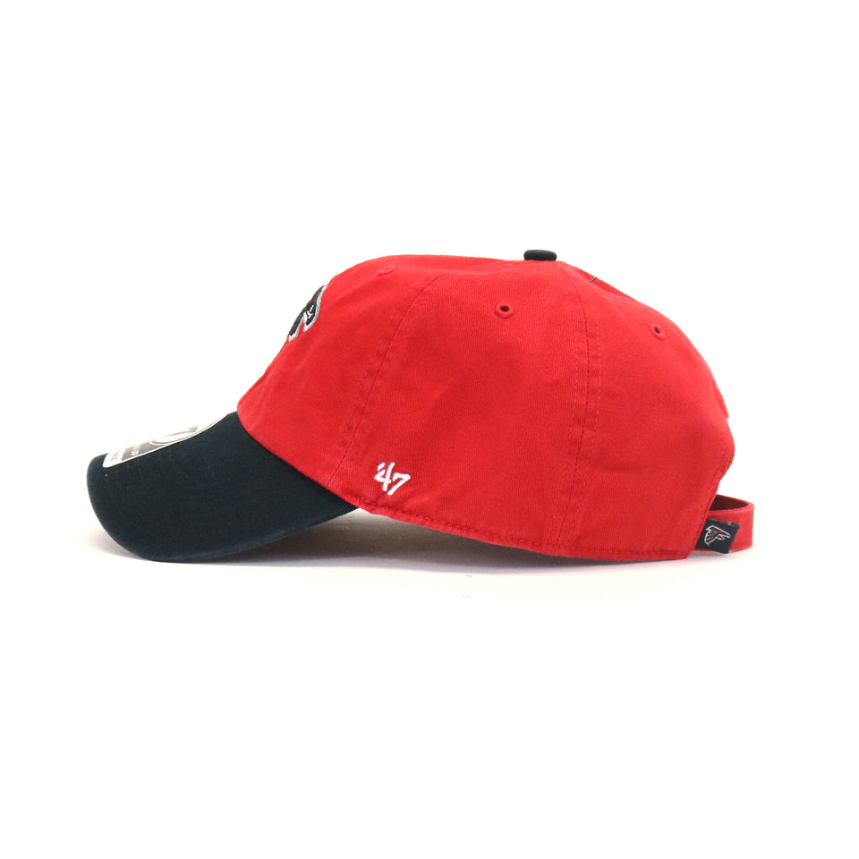 23b12b1a Atlanta Falcons Clean Up Two StrapBack Dad Hat - Red | Buy 47 Brand ...