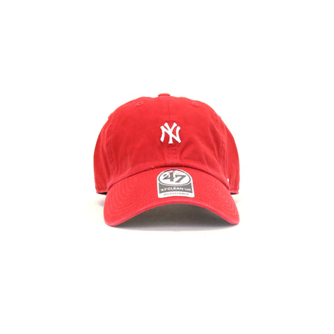New York Yankees Abate Clean Up StrapBack Dad Hat - Red