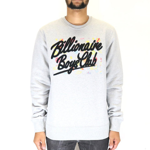 Billionaire Boys Club Viva Las Vegas Crew Sweatshirt - Heather Grey