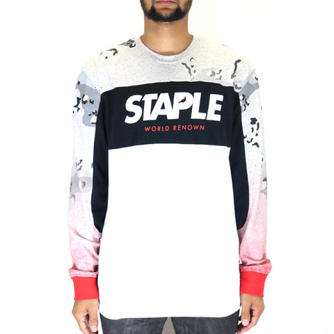 Staple Pigeon Concrete Logo LS T-Shirt - Heather