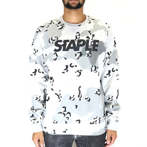 Staple Pigeon Concrete Logo Crewneck Sweatshirt - Heather