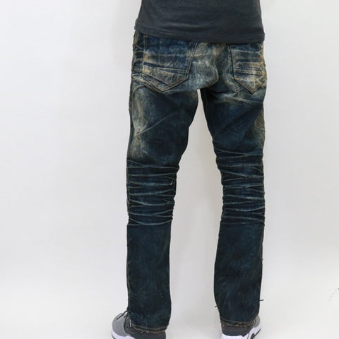 Jordan Craig Surface Dying Shredded Jeans - Vintage