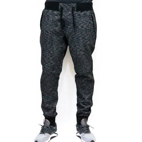 Jordan Craig Melange Fleece Jogger Sweatpants - Black Shadow
