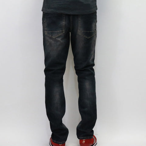 Bleeker & Mercer Black Slim Taper Premium Denim Jeans