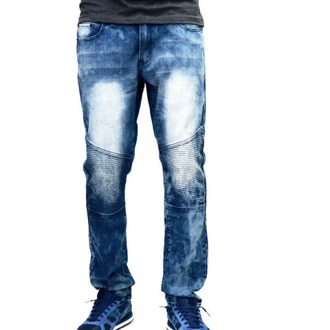 Bleeker & Mercer Indigo Denim Biker Jeans